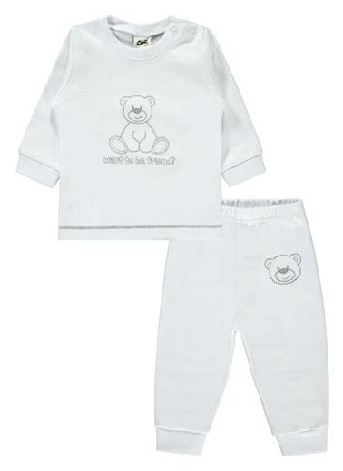 Civil Baby Kapüşonlu Penye Takım Beyaz